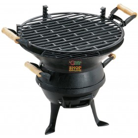 BARBECUE LAMPO CARBON PORTABLE CAST IRON PRACTICAL