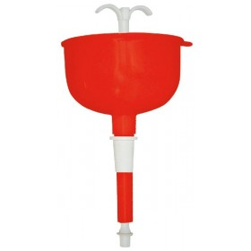 FERRARI SELF-ADJUSTABLE RED FUNNEL WITH FILTER WITH HOOK