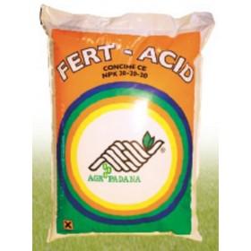 FERT-ACID concime per fertirrigazione N.P.K. 20.20.20 con