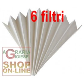 PAPER FILTER FOR FOLDED WINE OF 40 CM. 100 (6 pcs pack)