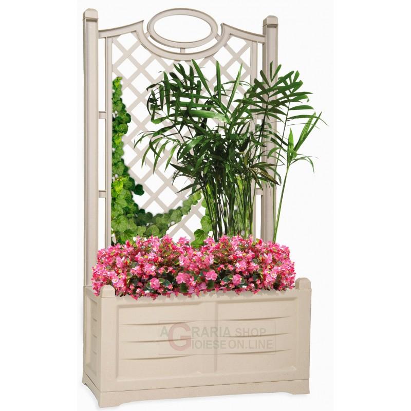 fioriera con spalliera fioriera con spalliera bama separ colore bianco cm 80x42