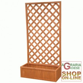 WOODEN PLANTER WITH RECTANGULAR PANEL CM. 90X40X180H
