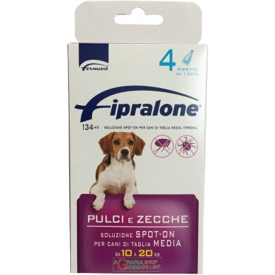Fipralone spot-on flea and tick pesticide for dogs 10 - 20 kg