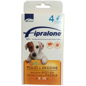 Fipralone flea and tick spot-on pesticide for dogs 2 - 10 kg pipettes 4