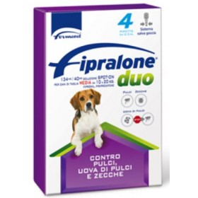 FIPRALONE DUO SPOT ON CAT PESTICIDE FOR DOGS MEDIUM SIZE FROM KG. 10 TO 20 PCS. 4