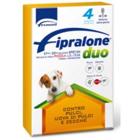 FIPRALONE DUO SPOT ON CAT PESTICIDE FOR SMALL DOGS FROM KG. 2
