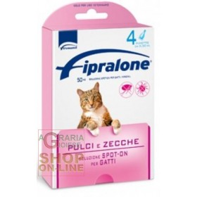 FIPRALONE SPOT-ONE PESTICIDE FOR CATS 4 PIPETTES
