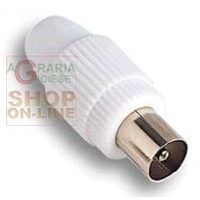 FME ART. 32.000 STRAIGHT COAXIAL PLUG FOR TV ANTENNA CABLE MM. 7