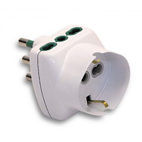 FME ART.82.210 2-SOCKET 10A ADAPTER WITH EARTH AND SCHUKO