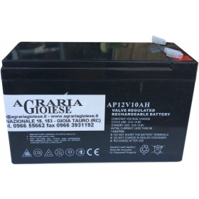 BATTERY FOR PUMP HURRICANE STOCKER LEAD RECHARGEABLE HERMETIC 12 VOLT 10Ah
