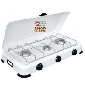 3 BURNERS GAS STOVE WITH LID