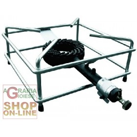 STOVE WITH GAS BURNER GALVANIZED STEEL FRAME CM. 40 X 40 HEAVY