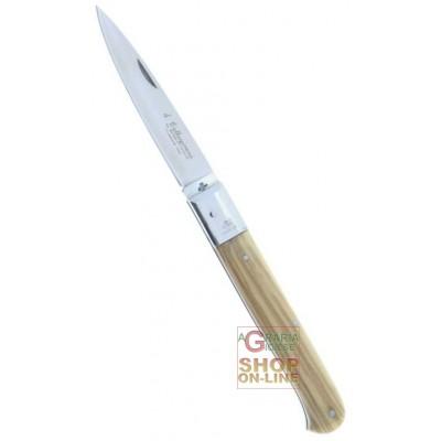 Fraraccio coltello caltagirone manico olivo cm. 18 cod. 0409/18