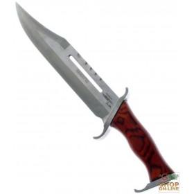 Fraraccio coltello Rambo III cm . 29 fodero pelle cod. 0955/410
