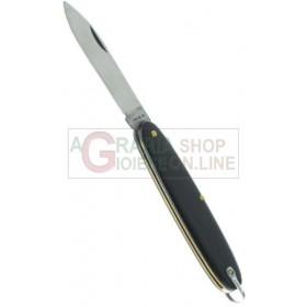 Fraraccio coltello temperino manico nero cod. 0536 cm. 12