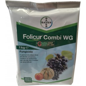 BAYER FOLICUR COMBI WG ANTIOID FUNGICIDE of tebuconazole and sulfur KG. 1