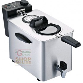 RGV PROFESSIONAL ELECTRIC FRYER IN STAINLESS STEEL CAPACITY LT.