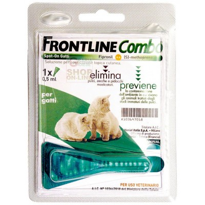 FRONTLINE PESTICIDE FLEAS TICKS COMBO FOR CATS AND FERRETS ML. 0.5