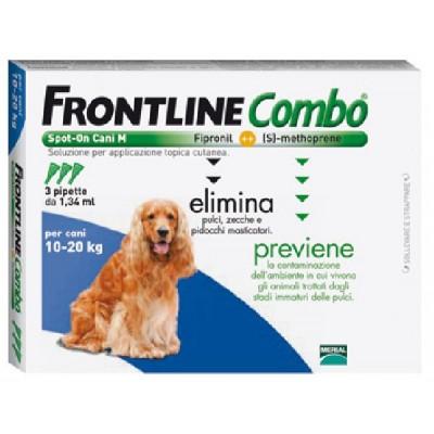 FRONTLINE PESTICIDE FLEAS TICKS COMBO SPOT-ON 10 - 20 KG.