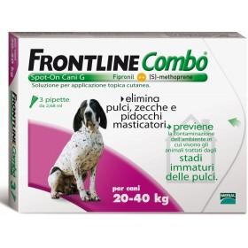 FRONTLINE PESTICIDE FLEAS TICKS COMBO SPOT-ON 20 - 40 KG.