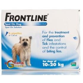 FRONTLINE PESTICIDE FLEAS TICKS SPOT-ON 10 - 20 KG.