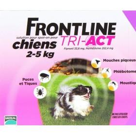 FRONTLINE PESTICIDE FLEAS TICKS TRI-ACT 2 - 5 KG.