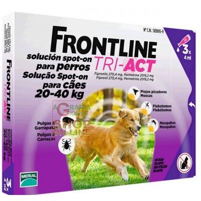 FRONTLINE ANTIPARASSITARIO PULCI ZECCHE TRI-ACT 20 - 40 KG.