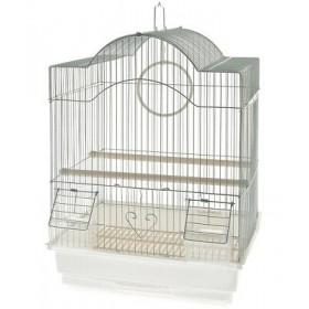 CAGE FOR CANARIES MODEL BIELLA CM. 35x28x46h. WHITE COLOR