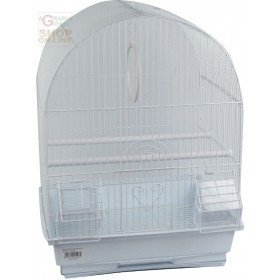 CAGE FOR CANARIES TORINO MODEL CM. 35x28x46h. WHITE COLOR