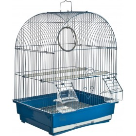 CAGE FOR CANARIES TORINO MODEL CM. 35x28x46h. BLUE COLOR