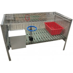 CAGE FOR FATTENING RABBITS WITH ANTITOPO NET CM.100