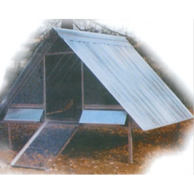 METALLIC NET CHICKEN CAGE AND FIVE-SEATER ROOF