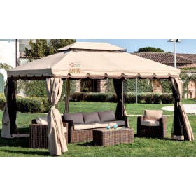 GAZEBO WITH ALUMINUM STRUCTURE ADVENTURE MT.3X4