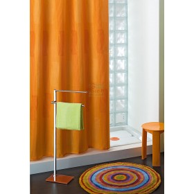 GEDY SHOWER CURTAIN IN POLYESTER 114 COLOR ORANGE CM. 240X200