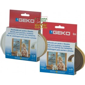 GEKO STRIP COVER PROTECTION IN WHITE RUBBER EPDM TYPE E MT. 6