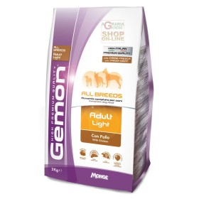 GEMON FOOD FOR DOGS ADULT LIGHT WITH CHICKEN KG. 3