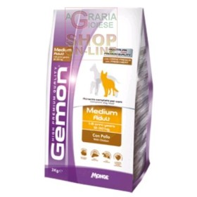 GEMON FOOD FOR DOGS MEDIUM ADULT WITH CHICKENS KG. 3