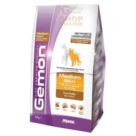 GEMON FOOD FOR DOGS MEDIUM ADULT WITH CHICKEN KG. 15