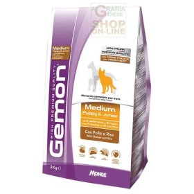GEMON FOOD FOR DOGS MEDIUM PUPPY JUNIOR WITH CHICKEN AND RICE KG. 15