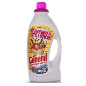 GENERAL DETERSIVO BUCATO LAVATRICE LIQUIDO TOTAL COLOR 19