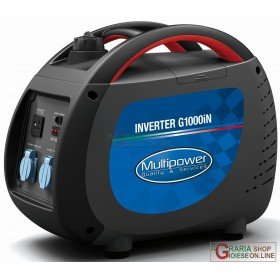 PROFESSIONAL MULTIPOWER G1000iN KVA 0,85 PORTABLE INVERTER GENERATOR