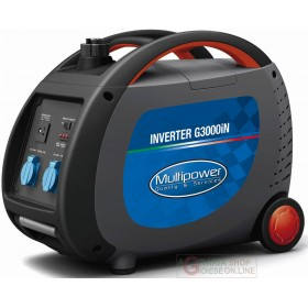 PROFESSIONAL MULTIPOWER G3000iN KVA 2,4 PORTABLE INVERTER GENERATOR