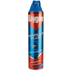 BAYGON BLUE INSECTICIDE SPRAY FLIES AND MOSQUITOES FORMULA PLUS