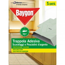 BAYGON KITCHEN TRAP ADHESIVE BEETLES AND SILVER FISH 5 PIECES