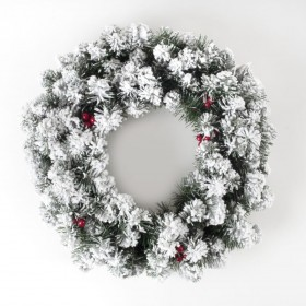 MARILLEVA CHRISTMAS Wreath GARLAND WITH SNOW AND BERRIES TPS120 CM. 50