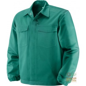 FIREPROOF JACKET IN 100% COTTON FABRIC GR 370 MQ GREEN COLOR TG 46 62