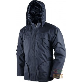 POLYESTER COTTON JACKET PADDED IN POLYESTER COLOR BLUE SIZE SML