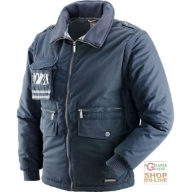 COTTON POLYESTER JACKET WITH DETACHABLE SLEEVE BADGE HOLDER