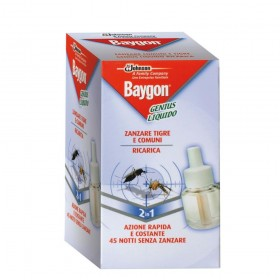 BAYGON GENIUS INSECTICIDE MOSQUITOES LIQUID REFILL 45 NIGHTS