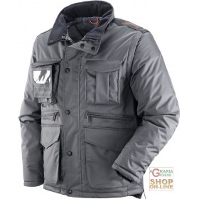 PVC POLYESTER JACKET WITH DETACHABLE SLEEVE BADGE HOLDER GRAY